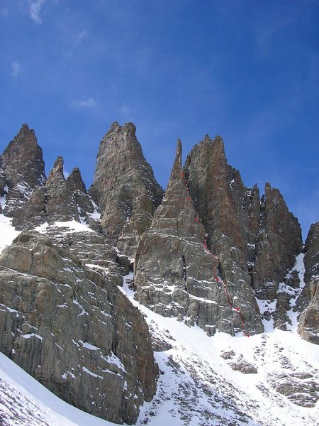 The Cathedral Spires showing The Petit Gully.