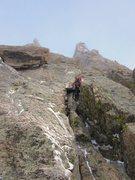 Rock Climbing Photo: Chris Sheridan on the third pitch of the Petit Gul...