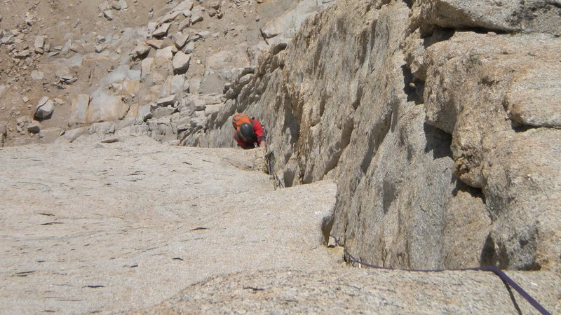 Rock Climbing Photo: eric coming up the stellar Western Front corner