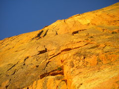 Rock Climbing Photo: looking up the casual route in the a.m.