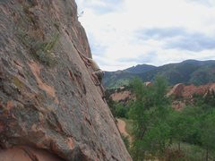 Rock Climbing Photo: Ryan Sanders leading Wake to Wake.