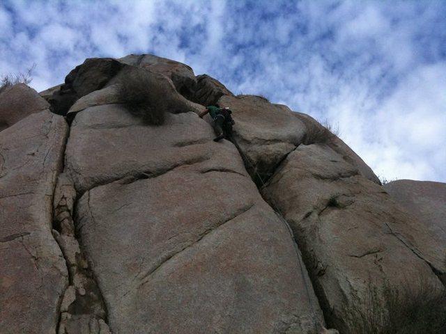 Rock Climbing Photo: leading Big Bang