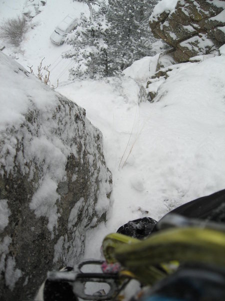 Rock Climbing Photo: Snowy climbing winter '11.