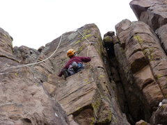 Rock Climbing Photo: Below the arete moves.