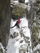 Rock Climbing Photo: Kevin Landolt tackling a killer snow mushroom on t...