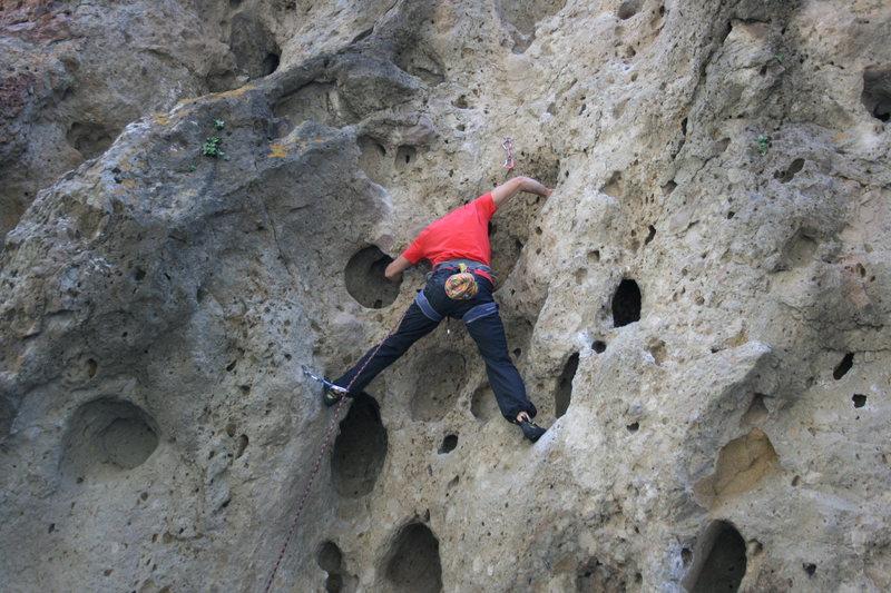Rock Climbing Photo: Kirk from 1-15-11