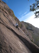 Rock Climbing Photo: Daryl gets us going  January 2010