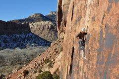 Rock Climbing Photo: eric on generic crack
