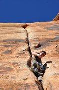 Rock Climbing Photo: Ian cruising Generic Crack