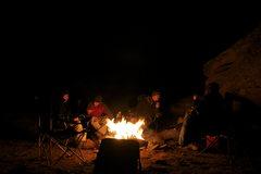 Rock Climbing Photo: good times around a big fire