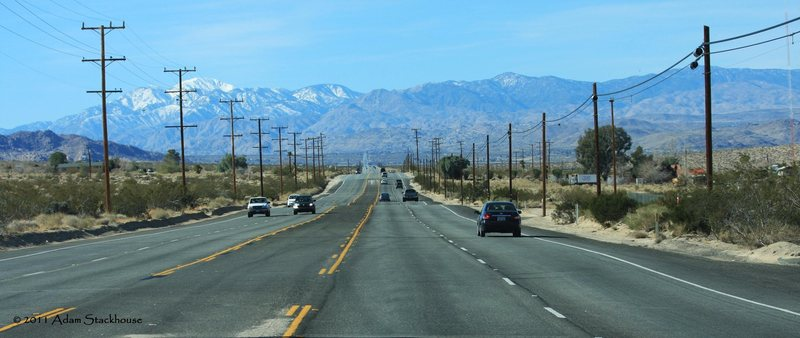 Rock Climbing Photo: The open road leaving Indian Cove Campground