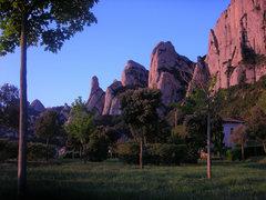 Rock Climbing Photo: Montserrat at sunrise