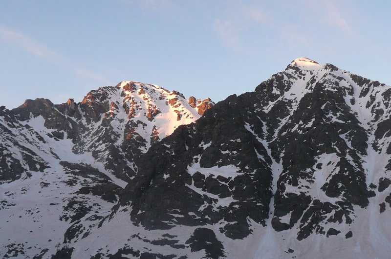 Rock Climbing Photo: North Arapahoe from the route.