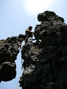 Rock Climbing Photo: Adam Winslow starting the business on the 2nd asce...