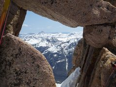 Rock Climbing Photo: Alpine window on Sunlight peak-ski descent.