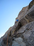 Rock Climbing Photo: The first pitch of roped climbing, aiming to bypas...