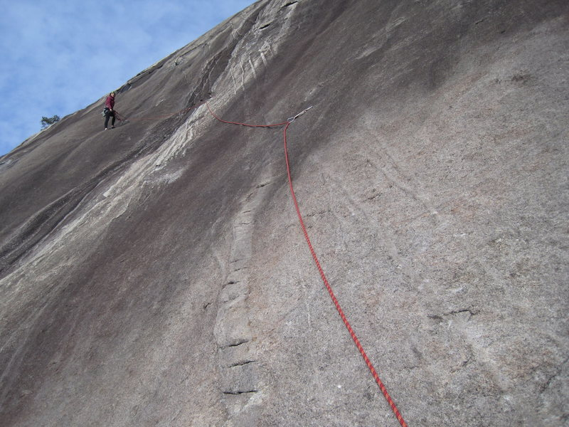 Rock Climbing Photo: Getting ready to follow the second pitch. Great fe...