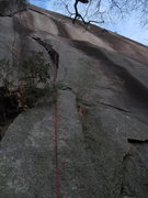 Rock Climbing Photo: Looking up the 1st pitch of The Pulpit.