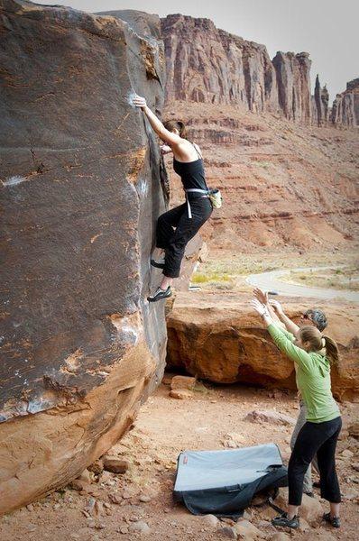 Rock Climbing Photo: Big Bend, UT 2010.