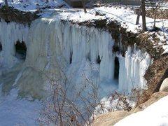 Rock Climbing Photo: Minnehaha Falls (~55 ft)