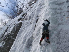 Rock Climbing Photo: Leading Fifi's Frozen Finger