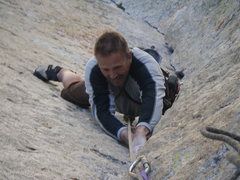 Rock Climbing Photo: Enjoying the 3rd pitch!
