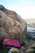 Rock Climbing Photo: Harrison Boulder North East Topo