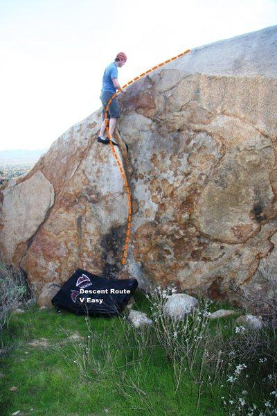 Rock Climbing Photo: Harrison Boulder East Topo