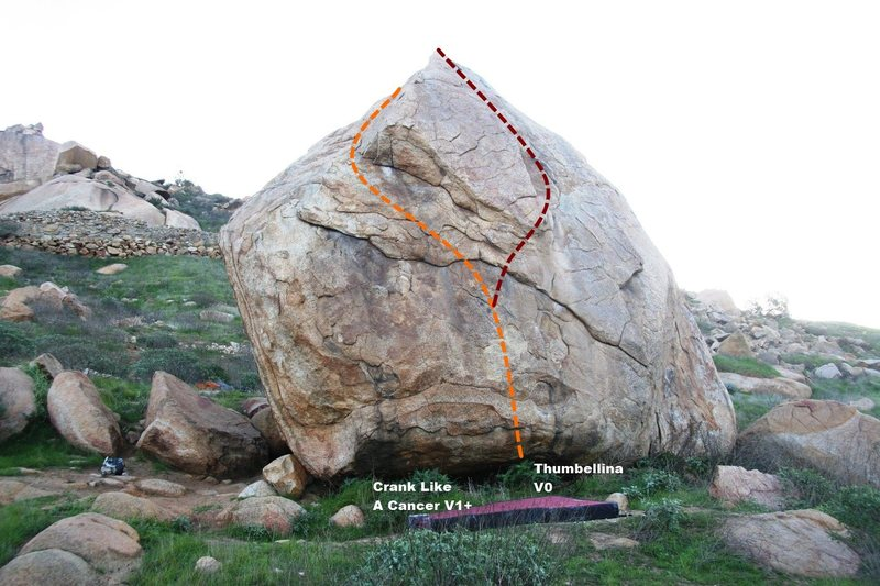 Rock Climbing Photo: Harrison Boulder North West Topo