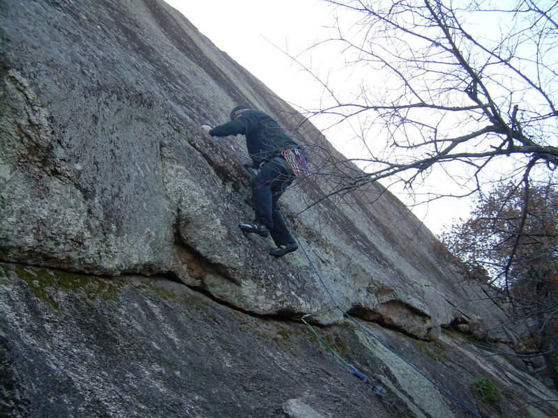 Rock Climbing Photo: Embarking on Bold Talk...unfortunately the batteri...