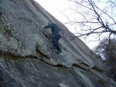 Rock Climbing Photo: Embarking on Bold Talk...unfortunately the batteri...