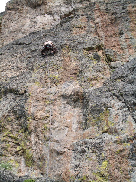 Rock Climbing Photo: Nick Duttle cruising through the lower section of ...