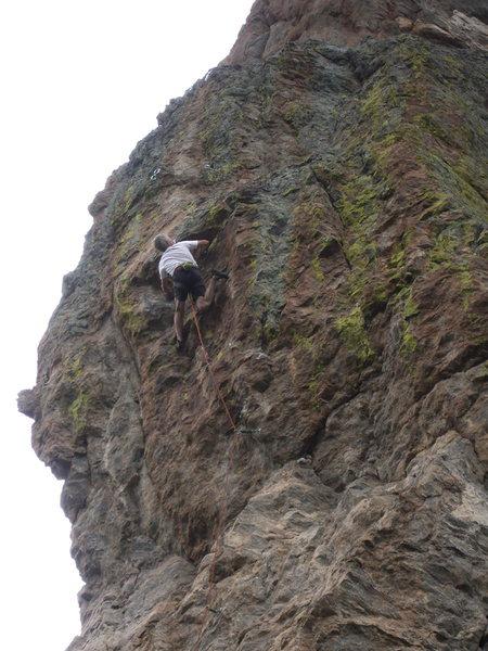 Rock Climbing Photo: Bob Siegrist grippin' his way up the cutlass on ro...