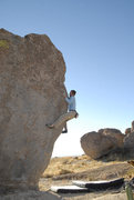Rock Climbing Photo: arete with a dog for a spot