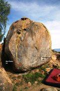 Rock Climbing Photo: Boy Scout Boulder South East Face Topo