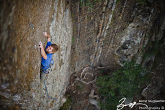 Rock Climbing Photo: Andy Patterson negotiates the direct face finish t...