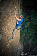 Rock Climbing Photo: The final climactic crux of Goulara, Direct Finish...