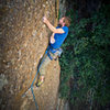 The final climactic crux of Goulara, Direct Finish (5.11+).