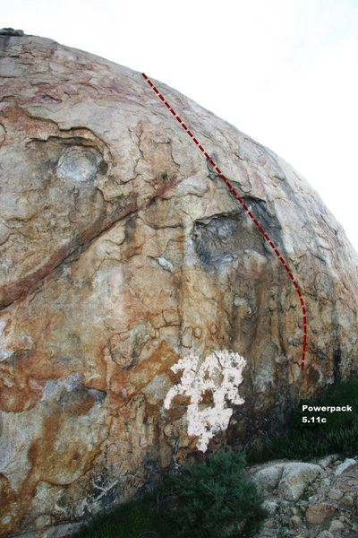 Rock Climbing Photo: Power Pack Topo