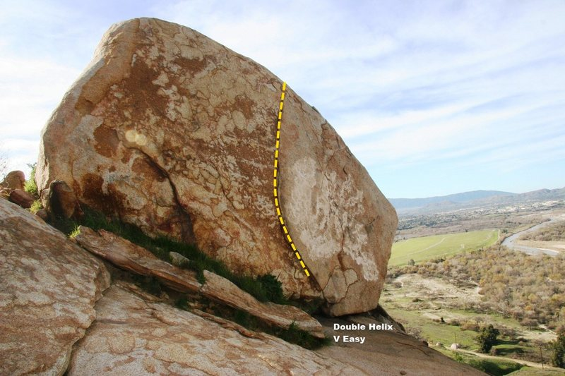 Rock Climbing Photo: Helix Boulder North Topo