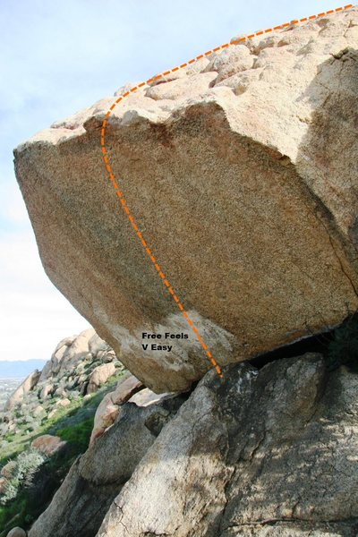 Rock Climbing Photo: Helix Boulder South West Topo