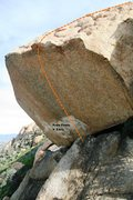 Rock Climbing Photo: Helix Boulder South West Topo