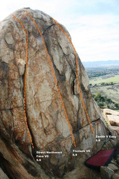 Rock Climbing Photo: Half Dome North Topo