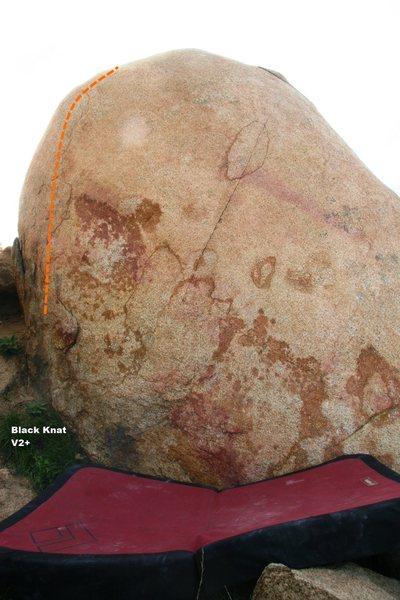 Rock Climbing Photo: Black Knat Topo