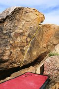 Rock Climbing Photo: Overhung Topo
