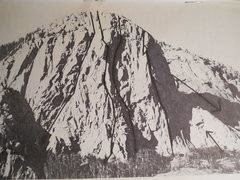 Rock Climbing Photo: The Pope Nose from Southwest Rock, 1985 by David K...