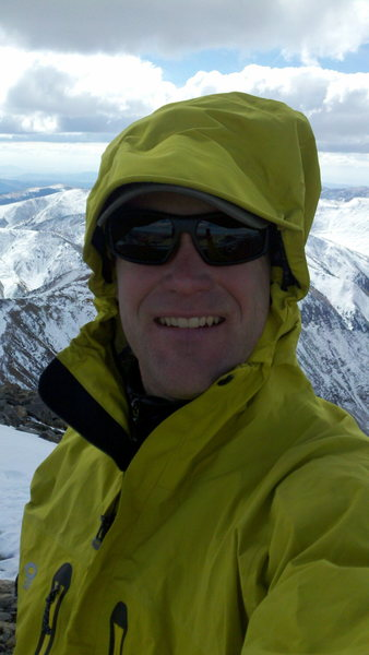 Self portrait on the summit of Gray's Peak, CO