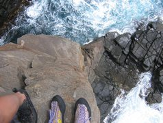 Rock Climbing Photo: Looking down from top of the Moai