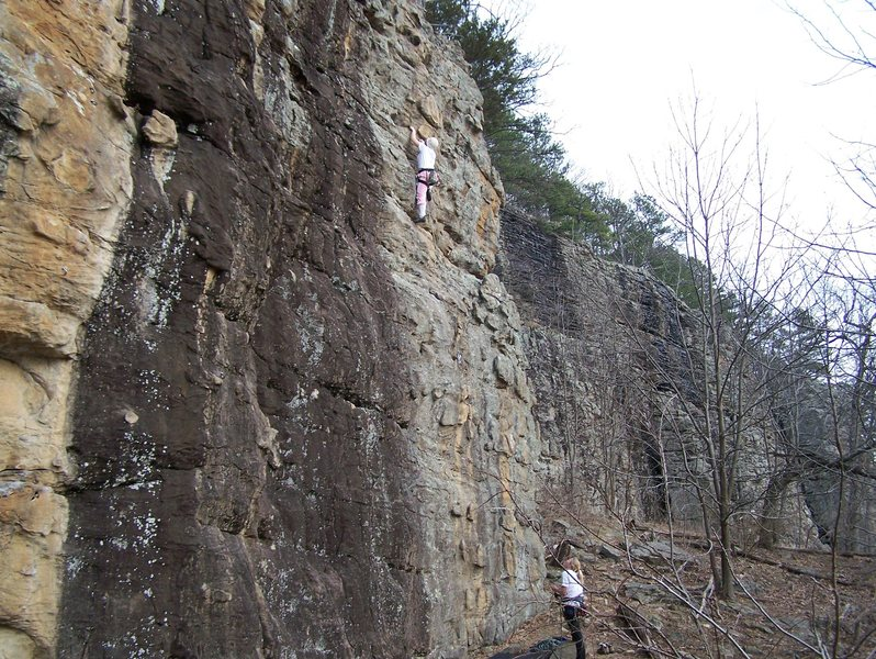 Rock Climbing Photo: Cassie on her first lead ever (Aphrodite 5.7)
