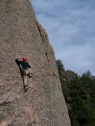 Rock Climbing Photo: Kevin at the Monestary.
